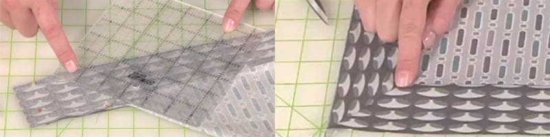 Tutorial on mitered corners in quilting