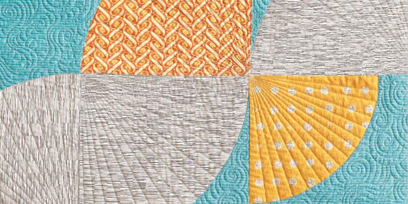 Detail of Orange Twist Quilt by Angel Pingel
