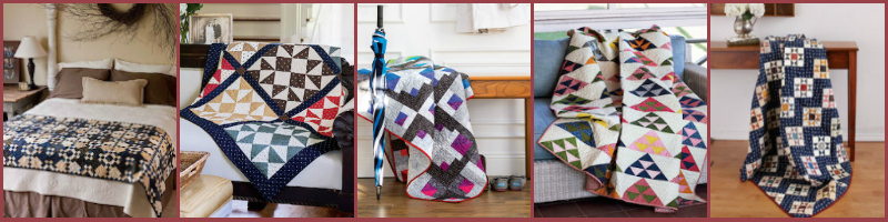 Free fat quarter quilt patterns from The Quilting Company!