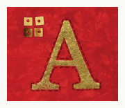 foiled letter a