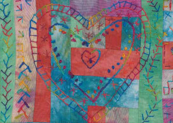 Hand Sewing Tips: Transform a Quilt with Hand Stitching by Laura Wasilowski