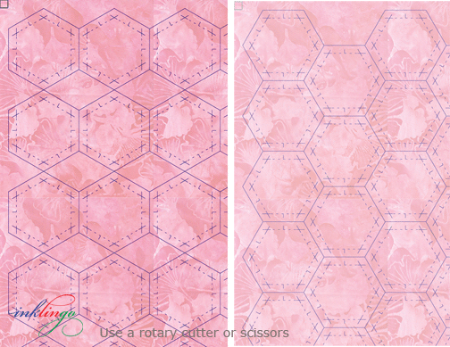 1 hexd A Pink Fabric Inklingo: Hexagons with Linda Franz