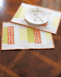 Quilted Placemats: Modern Quilted Placemats