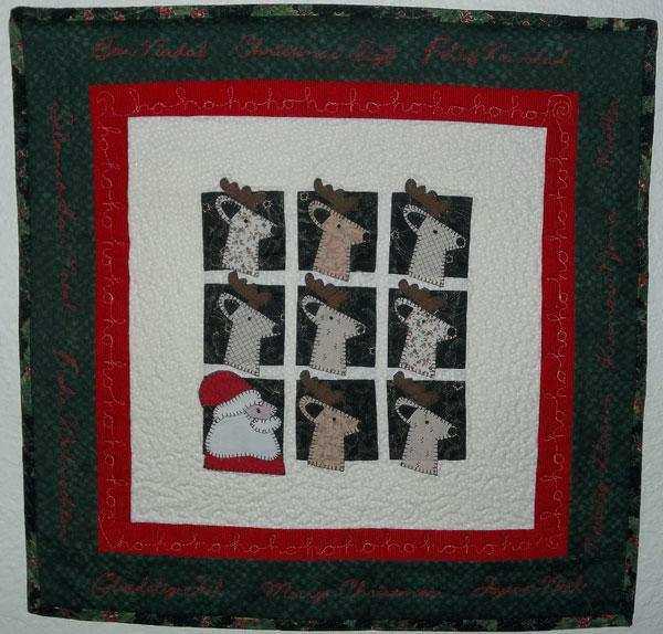 Santa & Reindeer - Christmas Quilts