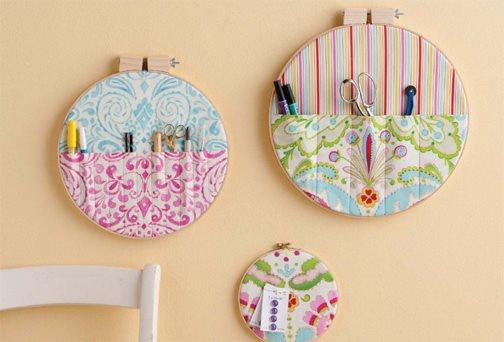 Studio Storage: Make a Quick and Pretty Fabric Wall Organizer ...