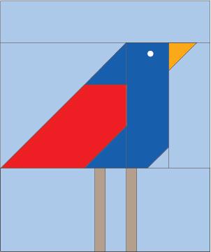 Bird Block Free Foundation Pieced Quilt Block Pattern