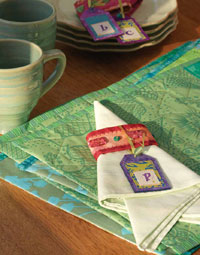 Sewing Napkins, Napkin Rings and Quilted Placemats: A Festive Setting