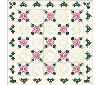 Rose of Sharon Quilt Pattern - The Quilting Company : rose of sharon quilt - Adamdwight.com
