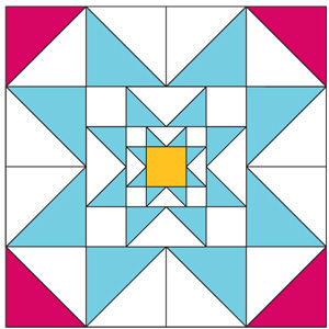 Trinity Star Block: FREE Patchwork Quilt Block Pattern - The ... : star block quilt pattern - Adamdwight.com