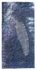 feather, free motion quilted, susan brubaker knapp