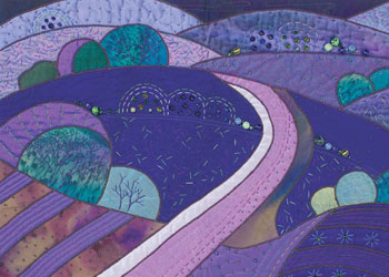 Hand Applique Example: The Heartfelt Landscape by Rose Hughes
