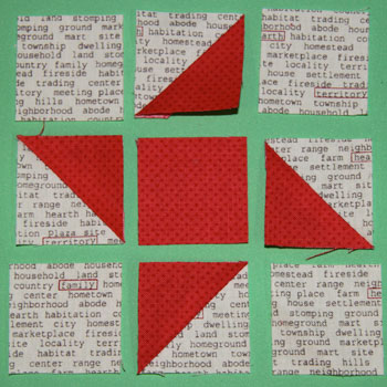 3 rows QM Bitty Blocks: November's Friendship Stars