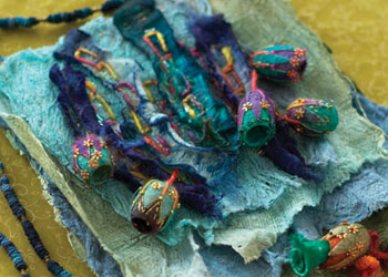 Unique Embellishing Techniques: Fun with Silk Rods, Cocoons, and Bark