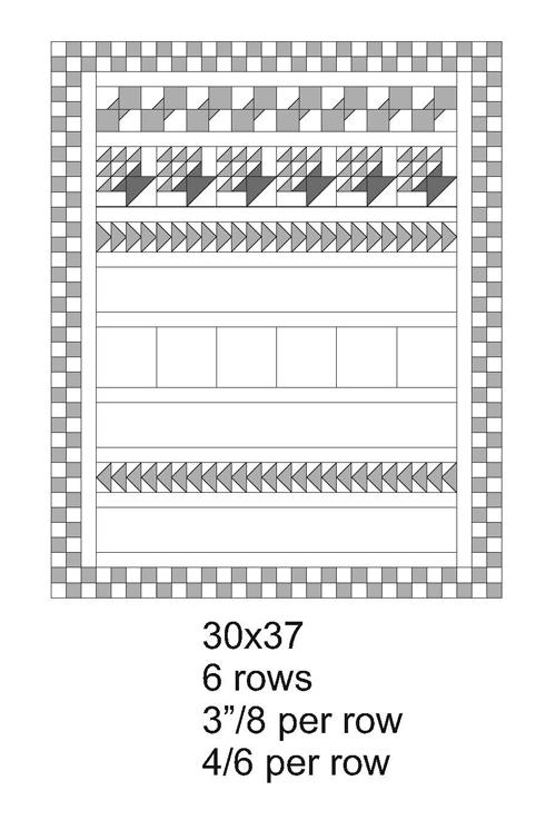 30x37 QM Bitty Blocks: The Row Quilts