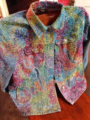 Hand Embroidery Project Turn A Thrift Store Denim Jacket Into Art