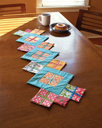 Quilted Table Runner: Contemporary Table Runner