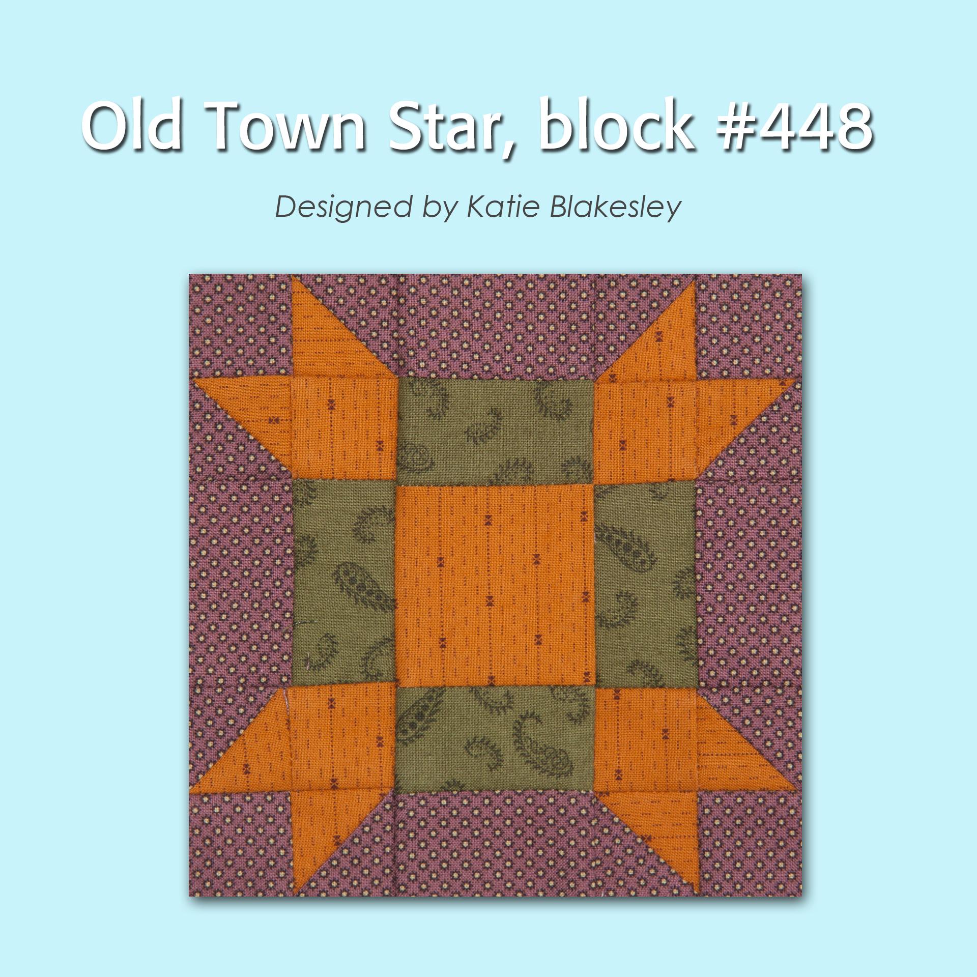 448 1 100 Blocks Sampler Sew Along   Block 6