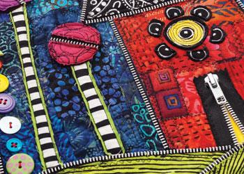 Zipper Surface Embellishment: Put A Little Zip In Your Art Quilts