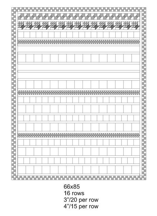 66x85 QM Bitty Blocks: The Row Quilts