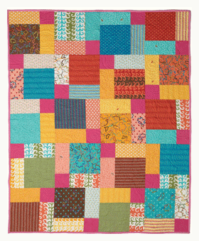 Free Modern Patchwork Quilt Pattern: Disappearing Nine Patch ... : how to make a patchwork quilt - Adamdwight.com