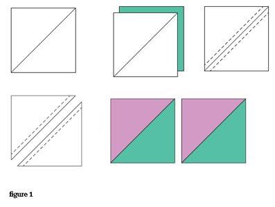 patchwork quilting half square triangles