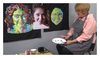 fabric painting portraits esterita austin