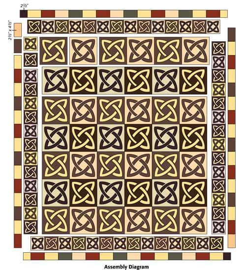 AD 500px Friday Free Quilt Patterns: Celtic Twist Lap Quilt