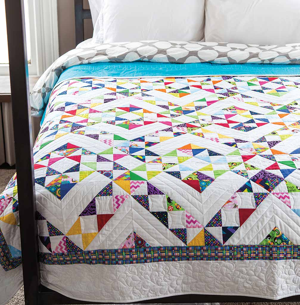 A Maze Of Little Gems Quilt Fons Amp Porter The Quilting