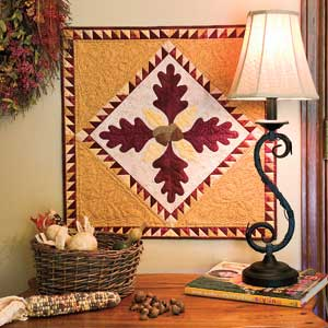 Friday Free Quilt Patterns: Acorn Autumn Wall Hanging | McCall's ... : wall hanging quilt patterns - Adamdwight.com