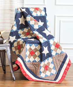 Jean Nolte's Album and Star quilt pattern makes a great Quilt of Valor!