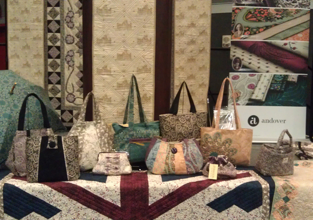 AndoverSchoolhouse bags Quiltmaker + Downton Abbey + Andover = Fabulous!