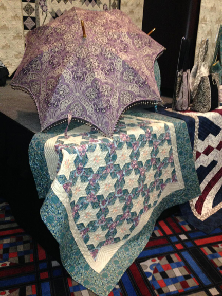 AndoverSchoolhouse umbrella Quiltmaker + Downton Abbey + Andover = Fabulous!