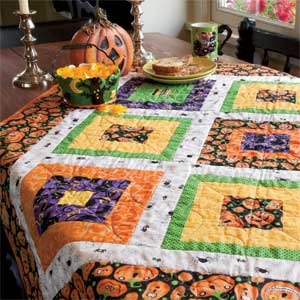 Around the Block: Quick Fun Halloween Quilt Pattern - The Quilting ... : halloween quilt blocks - Adamdwight.com