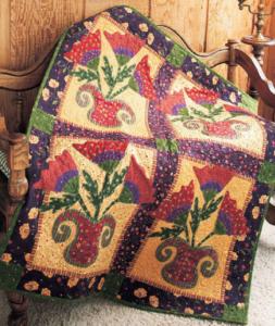 Flower Pot Basket Quilt