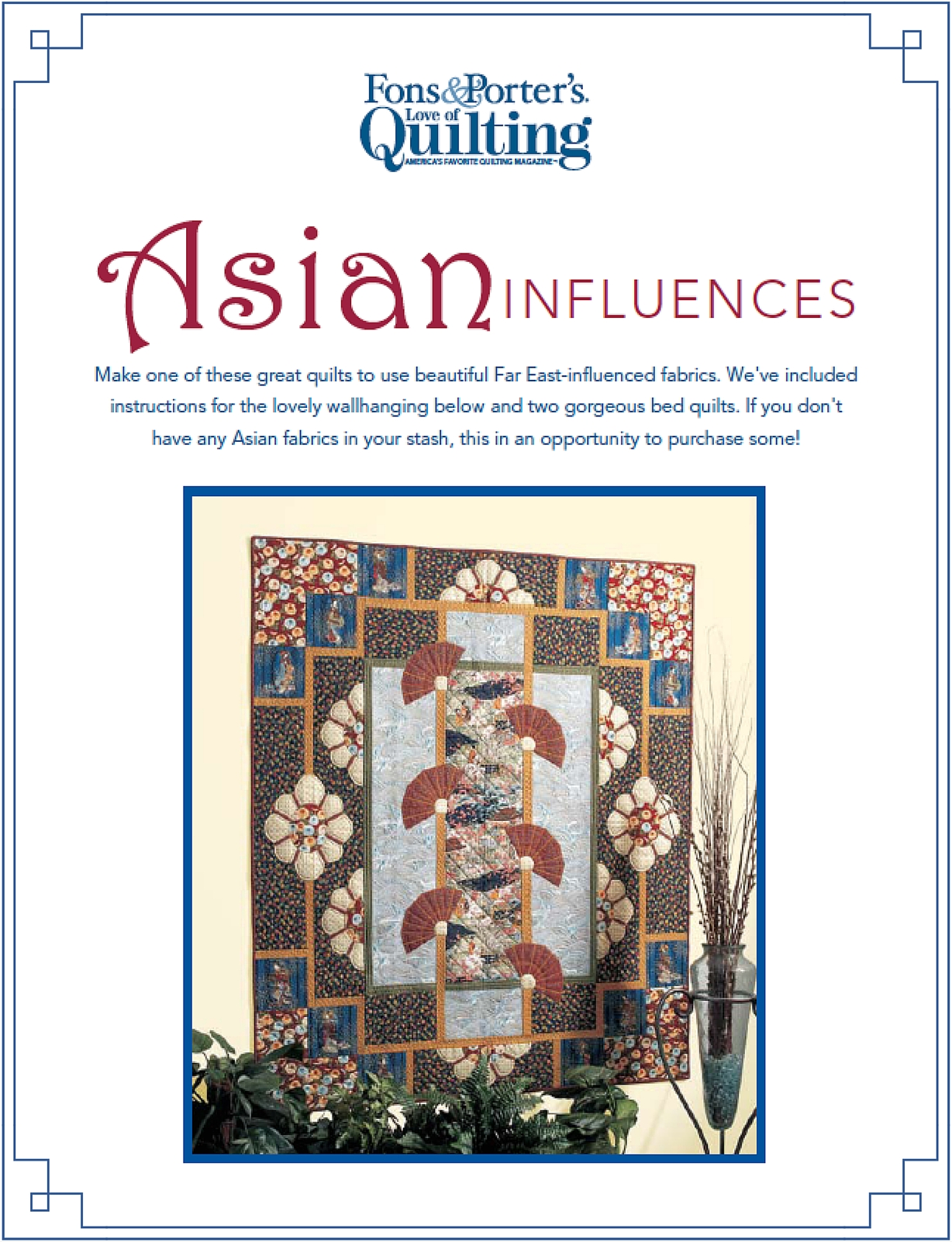 Asian Quilts eBook