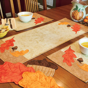 Superieur Autumn In Our Kitchen: Fall Quilted Table Runner, Place Mats, Hot Pads