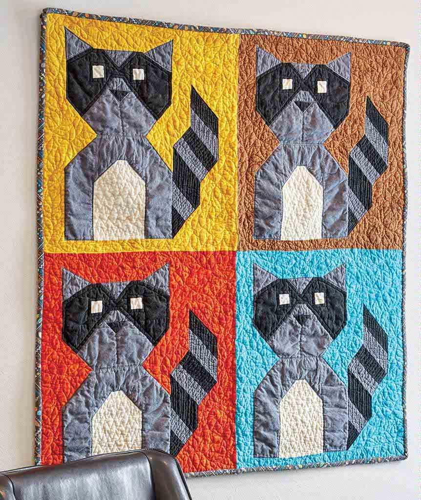 Baby Raccoon Bandit Quilt Fons Amp Porter The Quilting