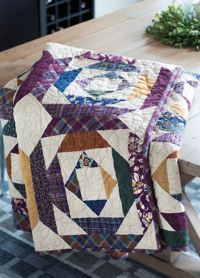 Block Friday Log Cabin Quilt Layouts Pineapple Variation Fons