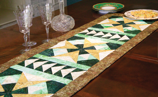Friday Free Quilt Patterns: Beacon Lights Table Runner | McCall's ... : free pattern for quilted table runner - Adamdwight.com