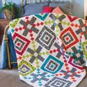 Big Time Two-Block Queen Size Quilt Pattern