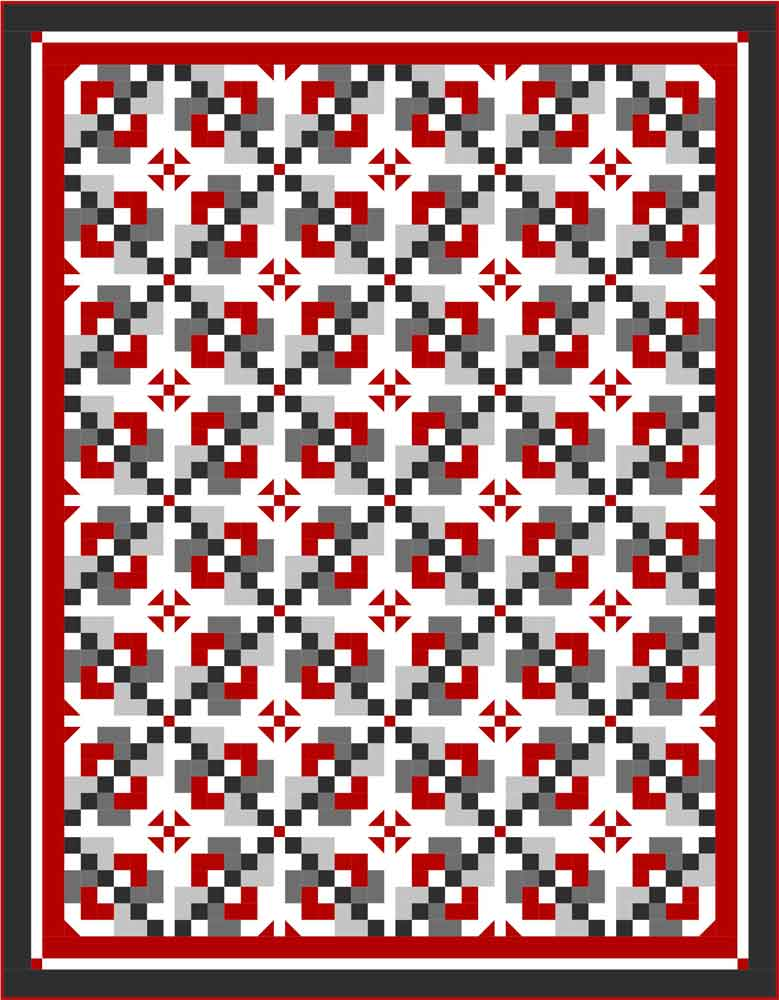 Black and red quilt 2 Pixie Pathways: A Visit with Kate Colleran