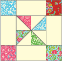 Sugar Plums: FREE Framed Pinwheel Quilt Block Pattern download
