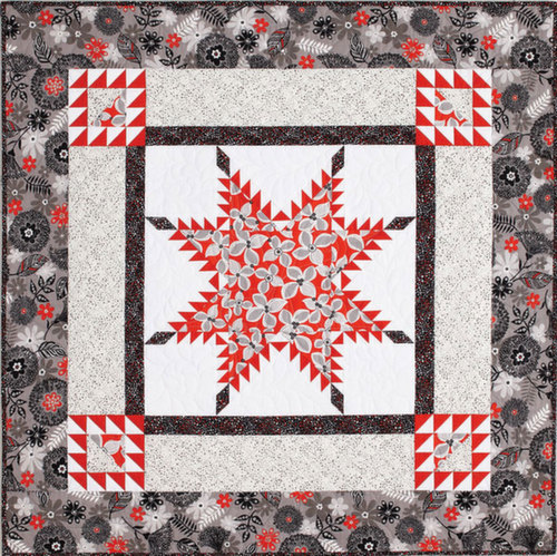 Blooming Feathered Star Quilt