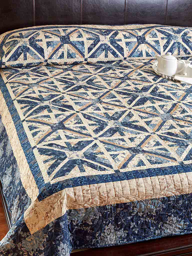 Blue Me Away Quilt Fons Porter The Quilting Company