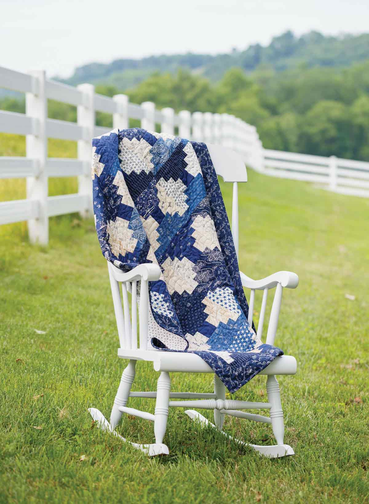 Blue and White Classic Quilt