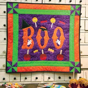 Boo-tacular: FREE Halloween Appliqué Wall Quilt Pattern