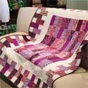 Brick-a-Brack: Quick Fat-Quarter-Friendly Lap Quilt Pattern
