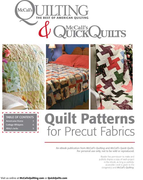 Free Quilt Patterns for Precut Fabric Packs