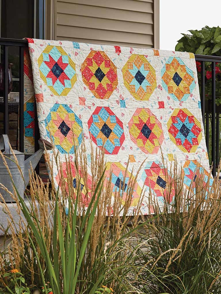 Cactus Blossoms Quilt Pattern Featuring Star Quilt Blocks The