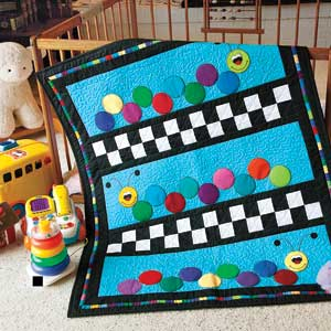 Caterpillars: Bright Primary Colors Baby/Kid's Lap Quilt Pattern ... : caterpillar quilt pattern - Adamdwight.com
